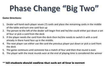 Phase Change Card Game