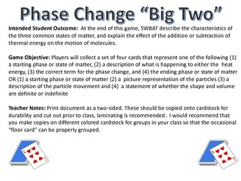 Phase Change Card Game