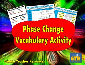 Phase Change Vocabulary Activity