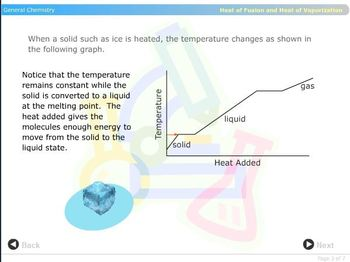 Phase change computer animation and lab activity