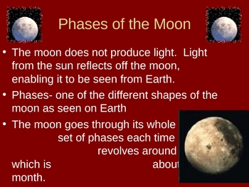 Phases, Eclipses, and Tides Power Point