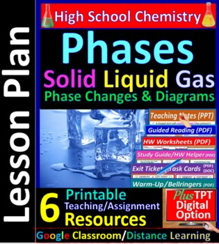 Phases, Phase Change & Diagrams (Solid, Liquid, Gas, Cooling & Heating Curves)