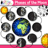 Phases of the Moon Clip Art: Earth's Solar System Graphics {Glitter Meets Glue}