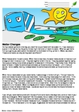 Phases of Matter Differentiated Reading - Liquid, Solid, G