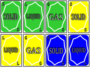 Solids, Liquids, Gases (It All Matters!) Card Game