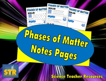 Phases of Matter Notes Pages