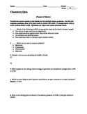 Phases of Matter Quiz (High School Chemistry)