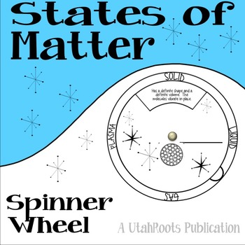 States of Matter Spinner Wheel Model