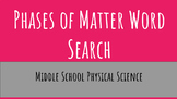 Phases of Matter Word Search