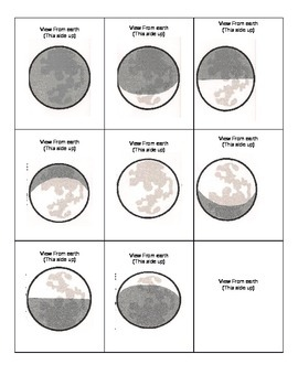 Phases of The Moon Matching Card Game 1