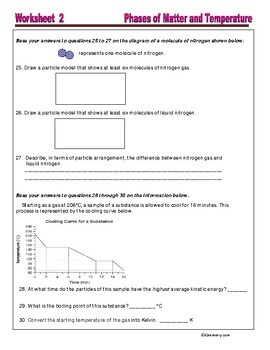 Phase and Phase Change  - Worksheets and Practice Questions for HS Chemistry