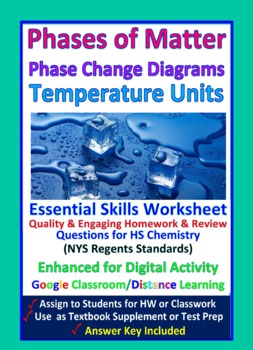 Phase and Phase Change  - Worksheets and Practice Question