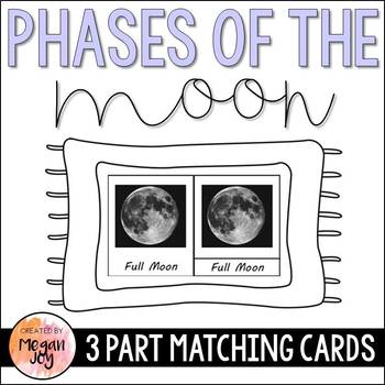 Phases of the Moon 3 Part Cards