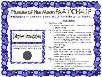 Phases of the Moon Activity Packet