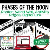 Phases of the Moon Anchor Charts, Posters, Word Wall, Acti