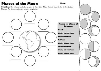 phases of the moon assessment by smithrchris teachers pay teachers. Black Bedroom Furniture Sets. Home Design Ideas