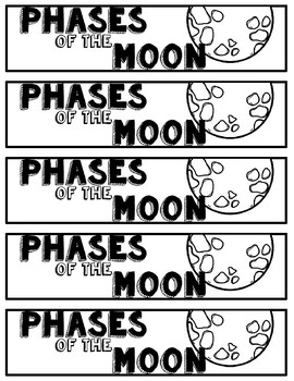Phases of the Moon Bookmarks