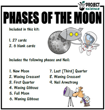 Phases of the Moon Card Sort [Moon Phases]