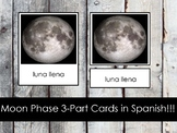 Phases of the Moon Cards in Spanish (Montessori)