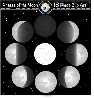 Phases of the Moon Clip Art