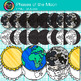 Phases of the Moon Clip Art {Earth's Solar System Graphics for Science}