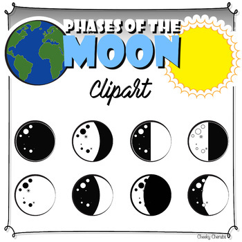 Phases of the Moon - Clip art