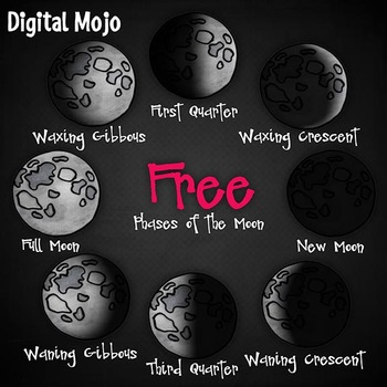 Phases of the Moon Clipart