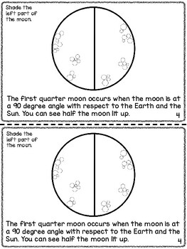 Phases of the Moon Informational Coloring Book and Comprehension Questions