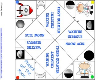 Phases of the Moon Cootie Catcher