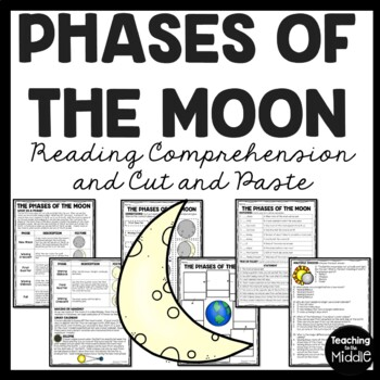 Phases of the Moon Cut & Paste Activity & Reading Comprehension Space; Astronomy