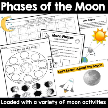 Phases of the Moon Cut and Paste & Phases of the Moon Calendar by ...