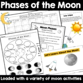 Phases of the Moon Cut and Paste & Phases of the Moon Calendar Printable/Digital