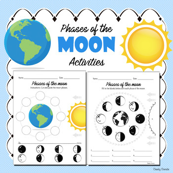 Phases of the Moon - Cut, paste and matching Activity