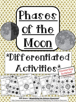 Phases of the Moon Differentiated Activities