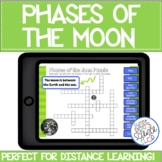 Phases of the Moon Digital Crossword Puzzle using BOOM cards