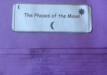 Phases of the Moon Foldable with Frayer Model Graphic Organizer