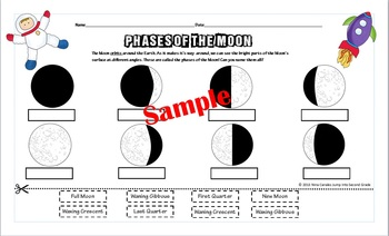 Phases of the Moon- Identify,Cut, Paste! by Nina The Geek ...