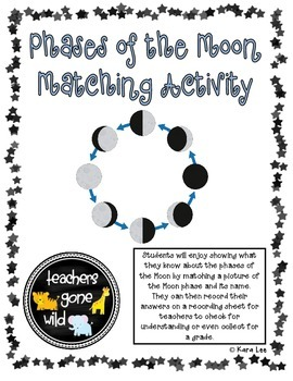 Phases of the Moon Matching Activity