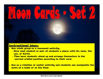 Phases of the Moon Movement Activity (Includes 3 different