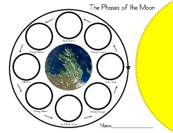 Worksheets Moon Phases Worksheet phases of the moon oreo act by rockin teacher materials hilary activity freebie
