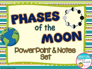 Phases of the Moon PowerPoint and Notes Set