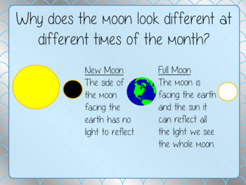 Phases of the Moon  -  PowerPoint and Worksheets