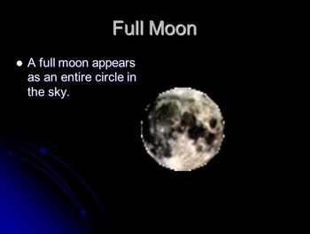 Phases of the Moon Powerpoint FREE