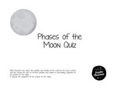 Phases of the Moon Quiz-4th grade