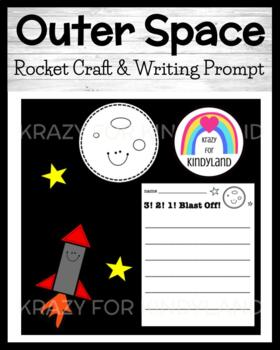Rocket Craft and Writing for Kinder (Phases of the Moon / Solar System / Space)