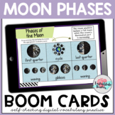 Phases of the Moon Vocabulary Boom Cards