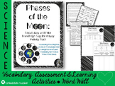 Phases of Moon Phases Vocabulary Word Wall and Activity Pack