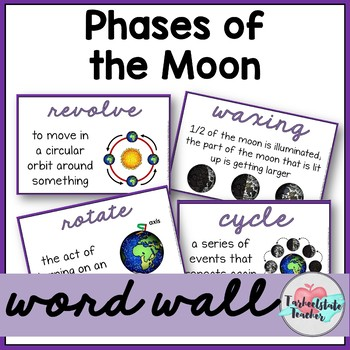 Phases of the Moon Vocabulary Word Wall