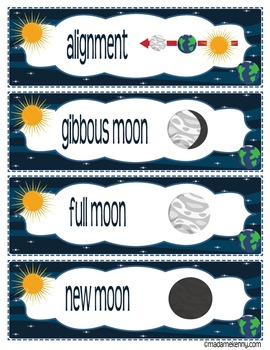Phases of the Moon-Word Wall