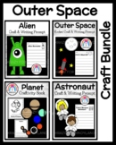 Outer Space Craft Activities: Rocket, Moon, Stars, Astronauts, Alien, Planets
